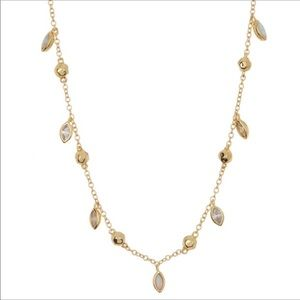 Gorjana gold delicate opal and stone necklace